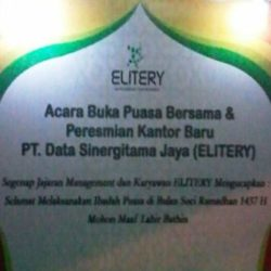 Iftar Ramadhan and Elitery New Office Ceremony